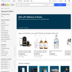 20% off Items (Capped at $300 Per Transaction) at Selected Sellers @ eBay