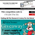 Win A Years Supply of Your Favourite Pet Food Brand from The Home Style Directory