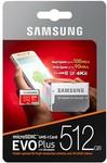 Samsung EVO Plus 512GB MicroSD Card $114 Delivered (AU Stock) @ Phonebot