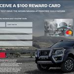 Free $100 Reward Card after a Nissan Navara Test Drive