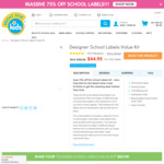 200 School Labels Value Kit for $30 + Shipping @ Bright Star Kids