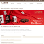 Win 1 of 3 Valentine's Day Chocolate Hampers Worth $150 from Haigh's