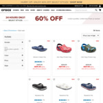Up to 60% off Clearance Crocs + Further 25% off at Checkout + Free Shipping (No Minimum Spending), 30% off $80 @ Crocs Australia