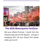[VIC] 25% off General Admission Tickets Australian F1 Grand Prix @ Fed Square