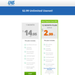 UsenetServer 12-Month Unlimited Usenet Plan $35.88 USD ($2.99/Mo)