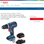 Bosch Blue Professional Brushless 1 Piece 18V Kit with 1x 5.0Ah Battery & Charger - $179 @ Bunnings