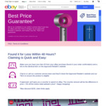 eBay Best Price Guarantee on New Fixed Price Items: Credit on Difference of Competitor Price + 5% off  (Max Claim $150) @ eBay