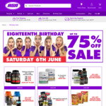 ASN (Australian Sports Nutrition) 18th Birthday Specials, up to 75% off (Mostly Everything Is 20% off)