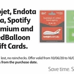 10% off Selected Gift Cards (Spotify, Webjet, Endota Spa, Red Balloon) @ Coles