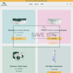 50% off First Subscription Order of Eco-Friendly Laundry Sheets, Toilet Paper, Tissue Box, Kitchen Towels + Shipping @Spacewhite