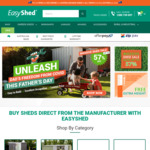 EasyShed Spring Sitewide Sale 25% - 49% off + 2 Free Accessories + Free Delivery to 170 Depots with Any Shed @ Easyshed.com.au
