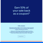Earn 10% of Your Sale Back as a Coupon ($50 Coupon Cap and Max $2,000) @ eBay AU