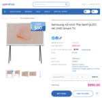 Samsung 43-Inch 'The Serif' QLED 4K UHD Smart TV $995 + Shipping (Save $300) @ OpenShop
