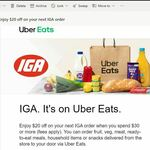$20 off IGA Purchase (Min Spend $30) @ Uber Eats