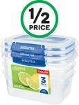 Woolworths ½ Price: Sistema Klip It Plus Rectangle 1L 3pk $6.75, Wonder White Wraps 312g 6pk $2, Vege Deli Crisps $2.75 + More