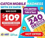 Catch Connect 365-Day 240GB (Was 120GB) Prepaid Mobile Starter Kit $109 Delivered (New Services Only) @ Catch