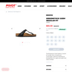 Birkenstock Gizeh Sandals Regular Fit Unisex $65 + $10 Delivery ($0 C&C/ $120 Order) @ Pivot