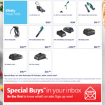 2x20V Mower Kit $229, 5in1 Gdn Tool Skin $199, Mini Trimr Skin $39.99, 8Ah/4Ah Battery $99.99/$49.99, Fast Chgr $19.90 @ ALDI