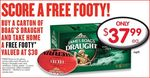 Boag's Draft Slab $37.99 with Free $30 Footy at IGA (VIC only)