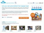 Get a Free Luggage Tag from KLM Royal Dutch Airlines!