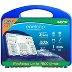 Sanyo Eneloop Power Pack (12AA, 4AAA, 2C&D Spacers, 4Position Charger&Carry Case) $52A Delivered
