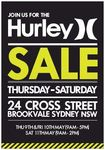 Hurley Warehouse Sale - Thur 9th - Sat 11th - Brookvale (Sydney), NSW