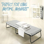 Single Size Folding Bed, Foldable Camping Bed with Mattress, $69.9 Free Shipping 3 Days Sale
