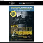 Free Entry to Daryl Braithwaite at The Trak in Toorak VIC (18+ Event) Friday 9 Jan 2015