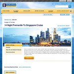 Royal Caribbean Voyager of The Seas 14 Nights Fremantle-Singapore 1/4/15 $798pp Inc. Gratuities