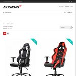 AKRacing Gaming Chairs - 10% Off Free Shipping Australia Wide From $323.10