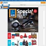 ALDI Special Buys: Bathroom Scale $9.99, Medicine Ball $19.99/$29.99, Rowing Machine $199 + More