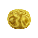 Yellow Knitted Ottoman $3.50 (Was $29) in-Store @ Kmart