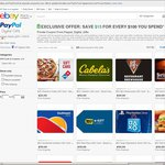 eBay US - Save US$15 for Every US$100 You Spend on Selected Gift Cards