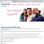 Anglicare $50 Wills Day - Have Your Will Professionally Prepared by a Solicitor [Parramatta, NSW]