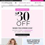 Lorna Jane $30 off Every $150 Spend