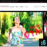 US $6 (~AU $8.50) for Custom-Print or Designer Tops (Women's) @ PINKCESS