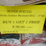 BOGOF Delta Indian Basmati Rice 10kg $26.95 (for 20kgs) India at Home (Box Hill, Vic)