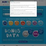 ALDImobile - Bonus 1GB Data on $35 (XL Plan) and 2GB Data on $45 (XXL Plan) Recharge