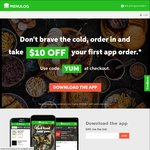 $10 off at Menulog (Delivery & First App Orders Only)