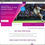 Foxtel from Telstra: Entertainment + Sport Package $35pm (Normally $51) Plus Free Installation (12 Month Contract)
