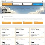 Tigerair 2 for 1 Domestic Sale: One Way Fares from $57 for 2 Passengers