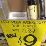 Click LED Worklight Rechargeable with Tripod - (Non Foldable Type) - Was $79, Then $39 Now $9 Instore at Bunnings Warehouse