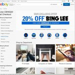 20% off Bing Lee @ eBay