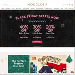Modcloth Black Friday Sale 20-40% off