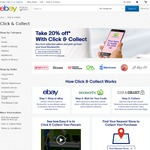 20% off Selected eBay Stores with Click & Collect