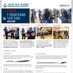 1 Year Free Pass to All Our Kung Fu Classes @ JGK Martial Arts [VIC Only]