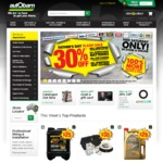30% off Supercharge Batteries, Lighting, Sheepskin Covers & UHF Radios @ Autobarn