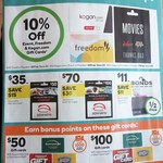 Gift Cards - 30% off Adrenaline, 10% off Kogan, Freedom, Bonus Points on Supercheap, Drummond, BCF @ Woolworths