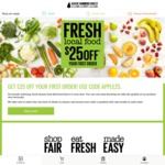 $25 off Your 1st Order at Aussie Farmers Direct (Minimum Spend $60)