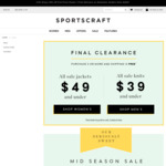 All Sale Jackets $49 All Sale Knits $39 @ Sportscraft (Buy 3 Sale Items Free Shipping or Free C&C)
